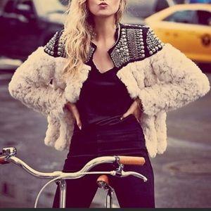 Free People Nordic Nights Fur Jacket